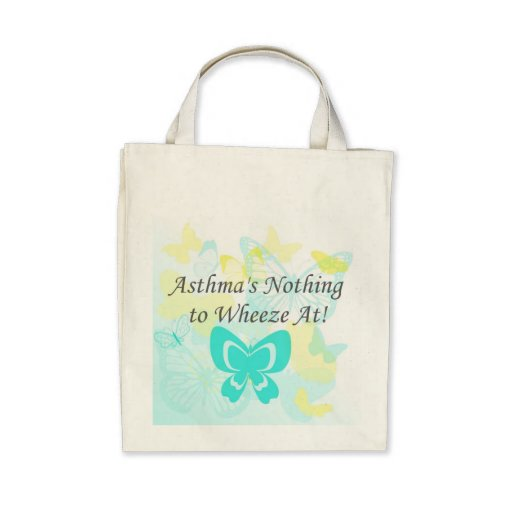 Asthma's Nothing to Wheeze At Organic Grocery Tote Bag