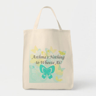 Asthma's Nothing to Wheeze At Organic Grocery Tote Grocery Tote Bag