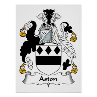 Aston Family Crest Poster