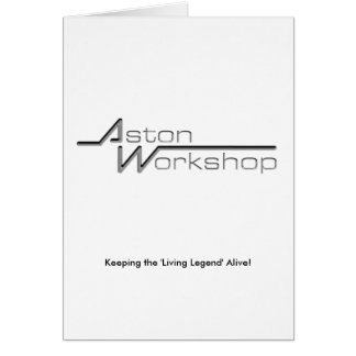 Aston Workshop Card