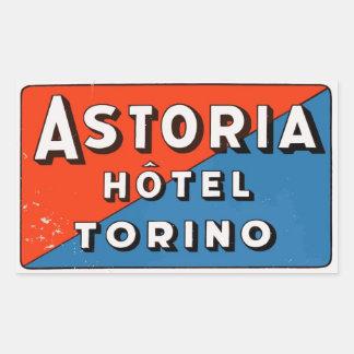 Astoria Hotel (Torino - Italy) Rectangular Sticker