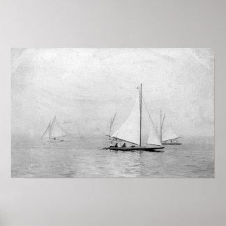Astoria, Oregon Annual Regatta Sailing Photograp Poster