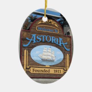 Astoria, Oregon Ceramic Ornament
