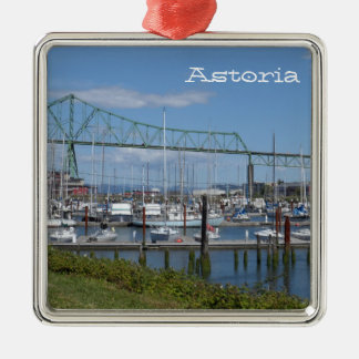 Astoria, Oregon Silver-Colored Square Decoration