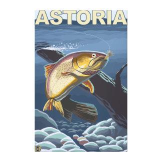 Astoria, OregonCutthroat Trout Cross-Section Canvas Print