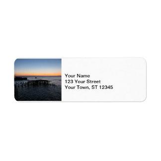 Astoria Sunset Return Address Label