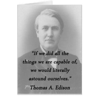 Astound Ourselves - Thomas Edison Card