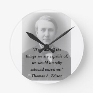 Astound Ourselves - Thomas Edison Clock