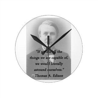 Astound Ourselves - Thomas Edison Round Clock