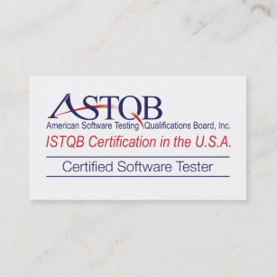 For software tester business cards zazzle au astqb certified software tester business cards reheart Images
