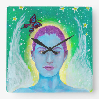 Astraea Star Goddess Square Clock