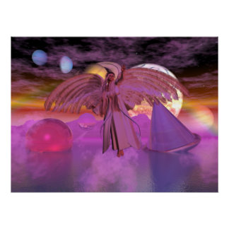 Astral Bodies Fantasy Sci-fi Card Poster