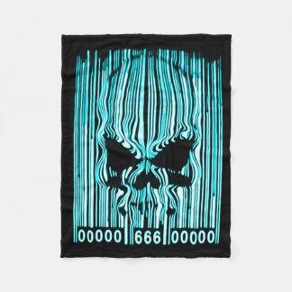 Astral Demon Barcode 666 Fleece Blanket