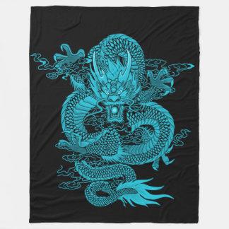 Astral Emperor Dragon Fleece Blanket