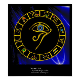 ASTRAL EYE / BLUE TALISMAN POSTER