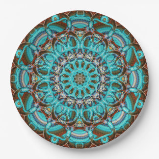 Astral Eye Mandala Paper Plate
