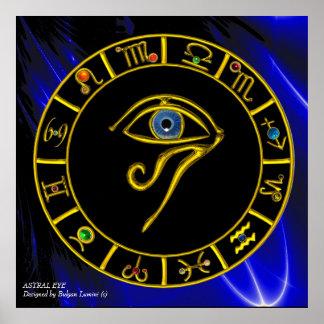 ASTRAL HORUS EYE / BLUE TALISMAN Zodiac Chart