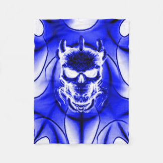 Astral Phantom Skull Fleece Blanket