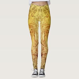 ASTRAL PLANTATION - Yellow Leggings