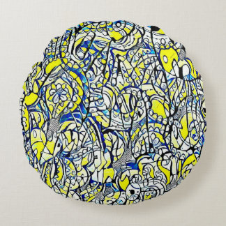 Astral round cushion flowers 3