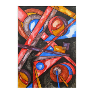 Astral Travel-Hand Painted Abstract Art Geometric
