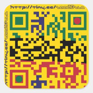 astrastudios QRcode Square Sticker