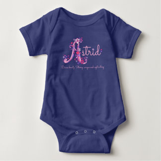 Astrid girls name & meaning letter A baby apparel Baby Bodysuit