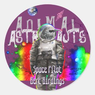 Astro Bird Classic Round Sticker