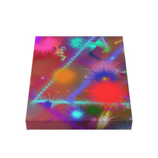 Astro Chart Colorful Abstract Canvas Print