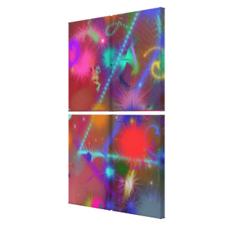 Astro Chart Colorful Abstract Canvas Prints