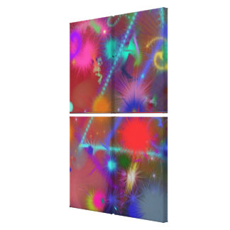Astro Chart Colorful Abstract Quad Canvas Print