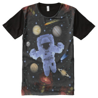 Astro-Chillin Solar System All-Over Print T-Shirt
