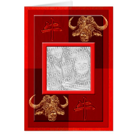Astro chinese ox template card