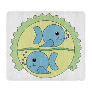 Astrobabies Pisces Glass Cutting Board