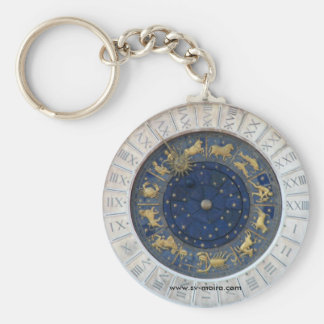 Astrological Clock,  Piazza San Marco, Venice Basic Round Button Key Ring