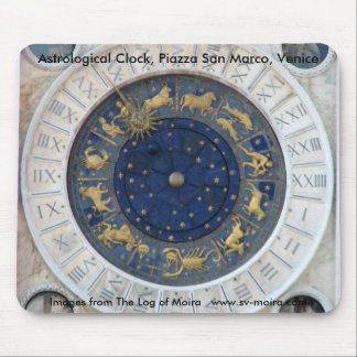 Astrological Clock Piazza San Marco Venice Mouse Pad