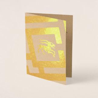 Astrological Sign Capricorn Foil Decor Custom Text Foil Card