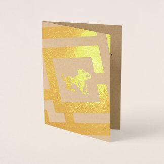 Astrological Sign Leo Foil Decor Custom Text Foil Card