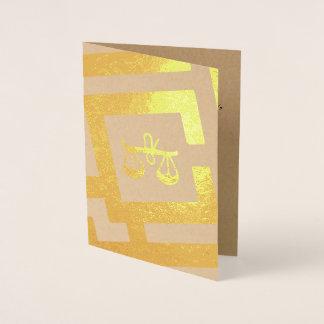 Astrological Sign Libra Foil Decor Custom Text Foil Card