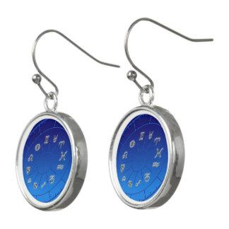 Astrological signs earrings