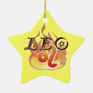 Astrological Signs of the Zodiac: Leo Christmas Ornaments