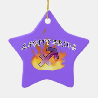 Astrological Signs of the Zodiac: Sagittarius! Ceramic Star Decoration