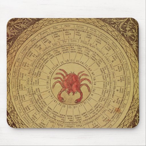 Astrological table of Cancer Mouse Pads