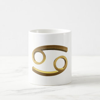 Astrological Zodiac Signs Sun Sign Cancer Gold Coffee Mug