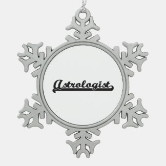 Astrologist Artistic Job Design Pewter Snowflake Decoration