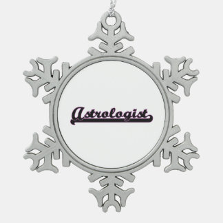 Astrologist Classic Job Design Pewter Snowflake Decoration