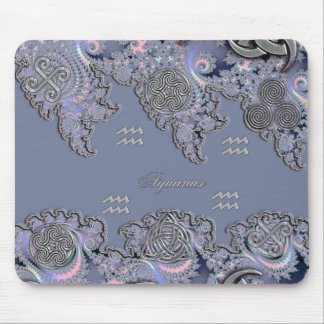 Astrology ~ Celtic Aquarius Mystical Fractal Mouse Pad