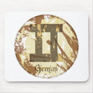 Astrology Grunge Gemini Mouse Pads