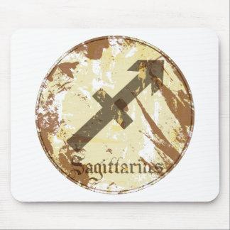 Astrology Grunge Sagittarius Mouse Pad