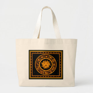 astrology horoscopes constellation zodiac fortune large tote bag